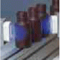 サンプル容器のコロナ処理の様子