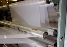 印刷工場のフィルムロール