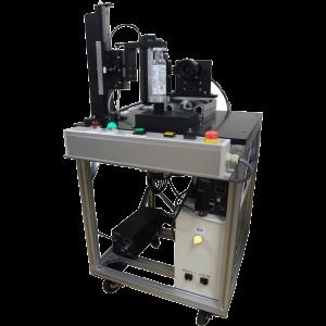 ナビタスマシナリーの手動供給式円筒容器検査装置
